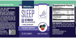 30mg Broad Spectrum CBD Sleep Gummies + Melatonin – 30 Count – 0% THC*