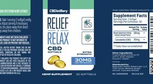 Broad Spectrum CBD Softgels – 30mg – 30 Count 0% THC*