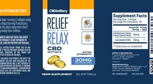 Full Spectrum CBD Softgels – 30mg – 30 Count